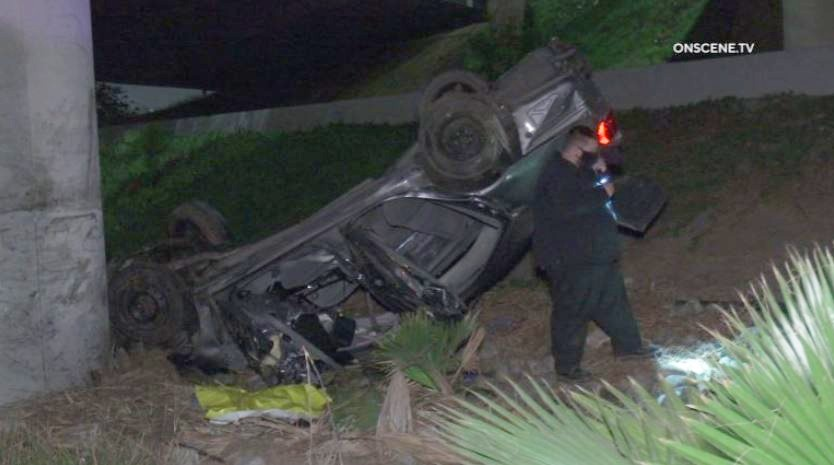 Wreckage of vehicle