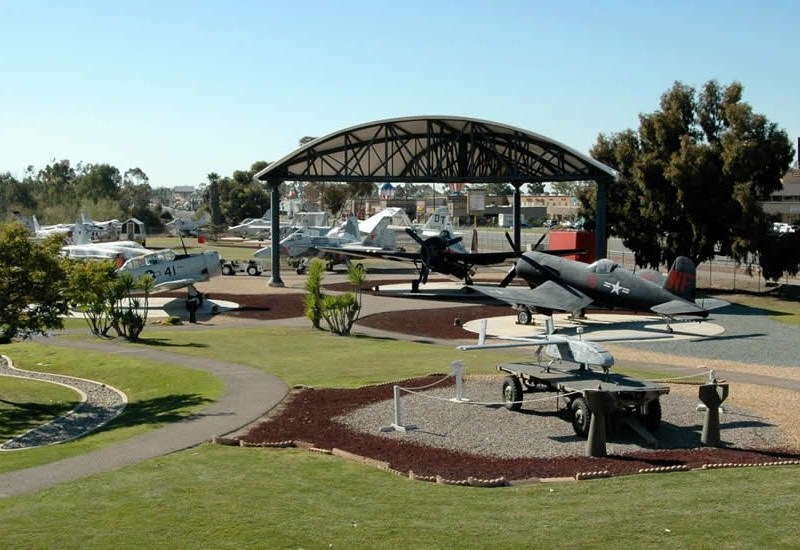 Aircraft on display at the Flying Leathernecks museum