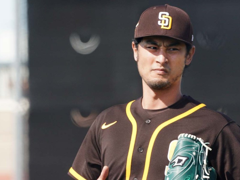 Yu Darvish at spring training. Photo by Chris Stone