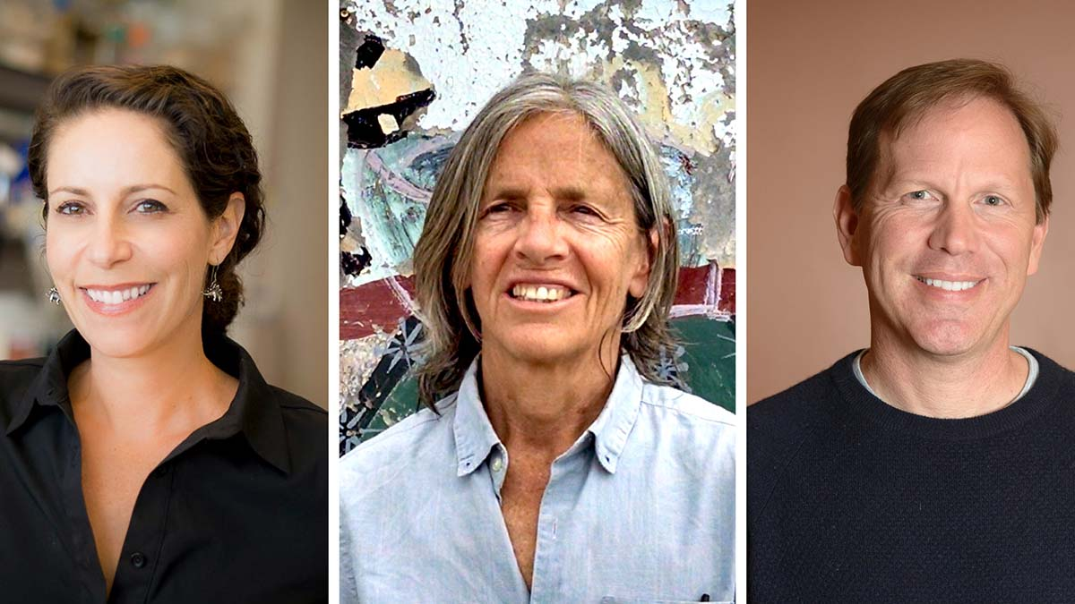 From left: Ananda Goldrath, Eileen Myles and Stefan Savage are joining the ranks of fellows of the American Academy of Arts & Sciences.