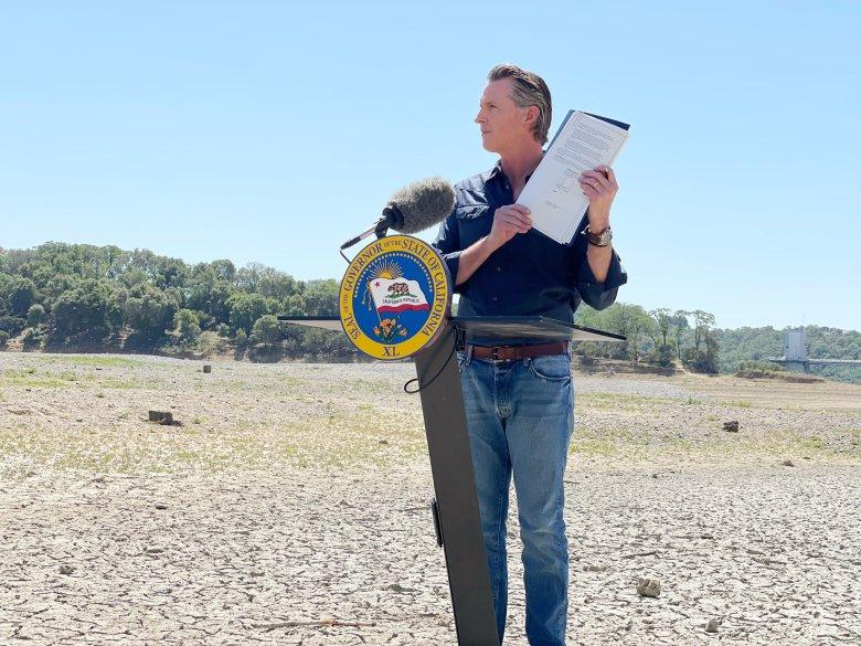Gavin Newsom at Lake Mendocino