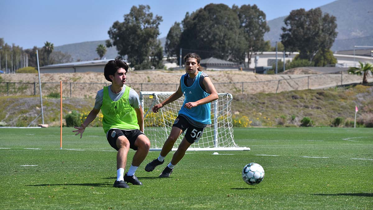 Xavi Gnaulati (right) is one of four youth under contract with the San Diego Loyal through the USL Academy.