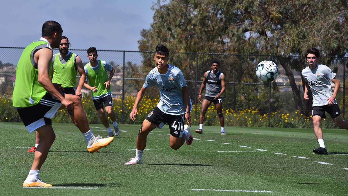 Ian Mai, 16, a defender from Mission Valley , said he knows he has to work diligently to earn time on the pitch during the season.