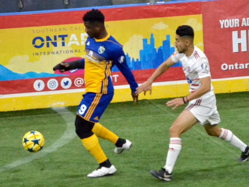 Soccer action at Toyota Arena
