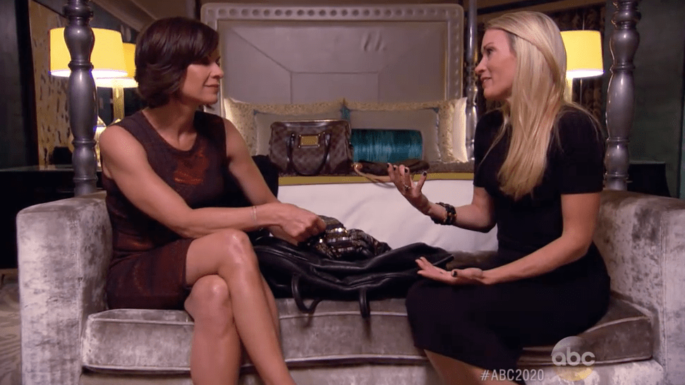 Elizabeth Vargas of ABC News scored a major early interview with Suzy Favor Hamilton (right) in September 2015.