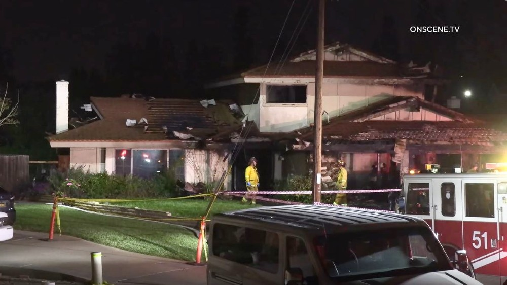 Firefighters outside home in Chula Vista