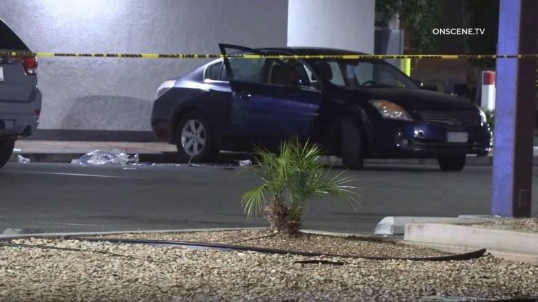 Car where victim was shot