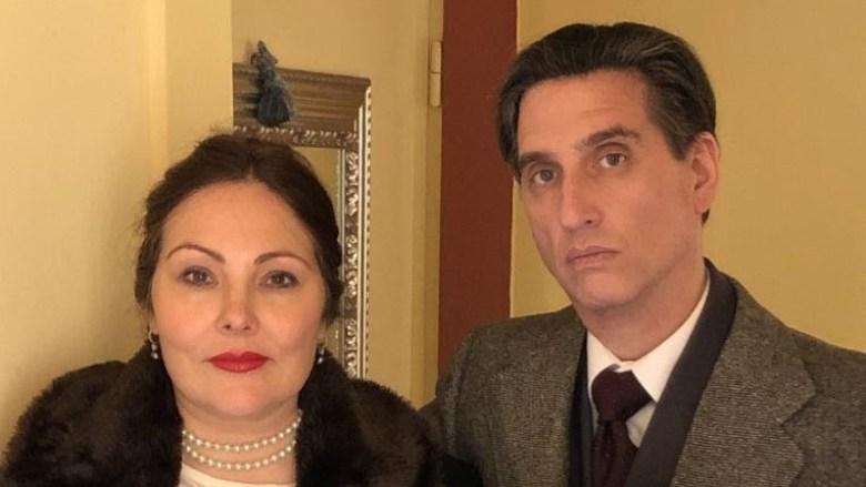Hershey Felder as Rachmaninoff and Ekaterina Siurina as his wife