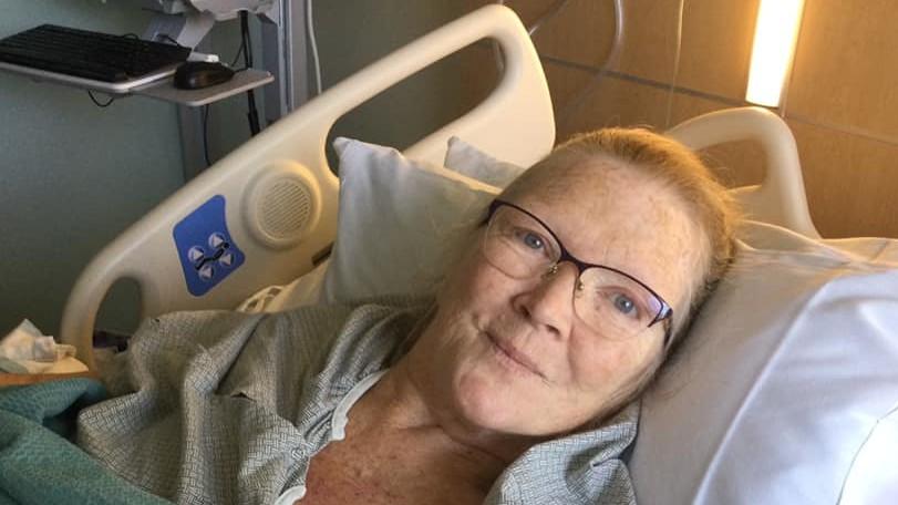 Marti Emerald in hospital