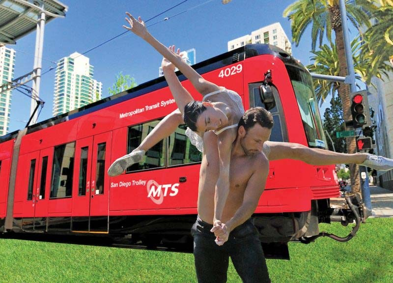 The San Diego Dance Theater's Trolley Dances return in early June at several Green Line stops.