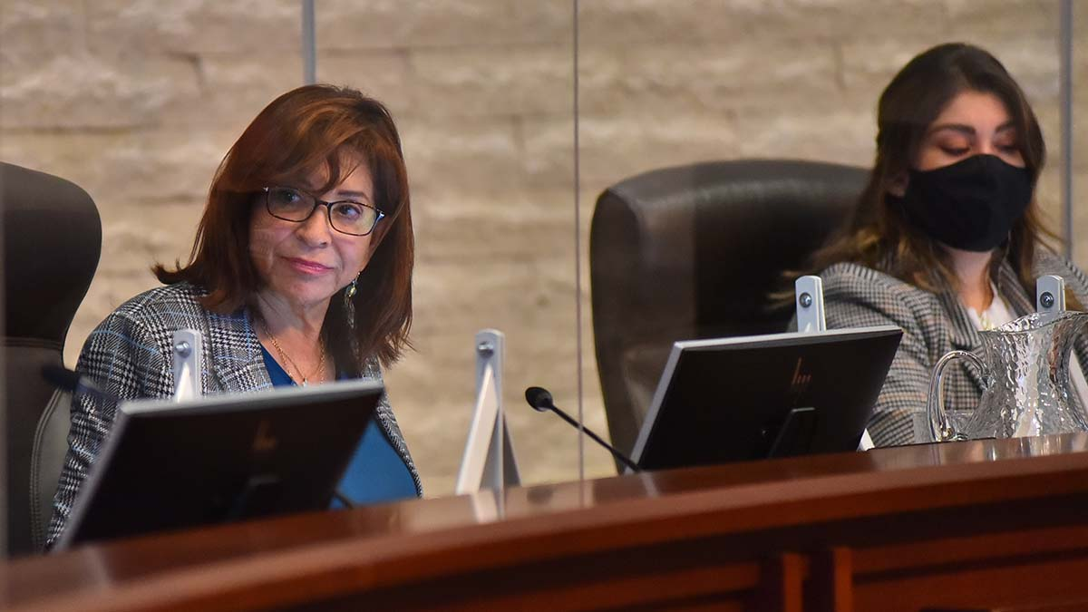 Chula Vista Mayor Mary Salas (left) and Councilwoman Andrea Cardenas backed the plan to ban the Columbus statue