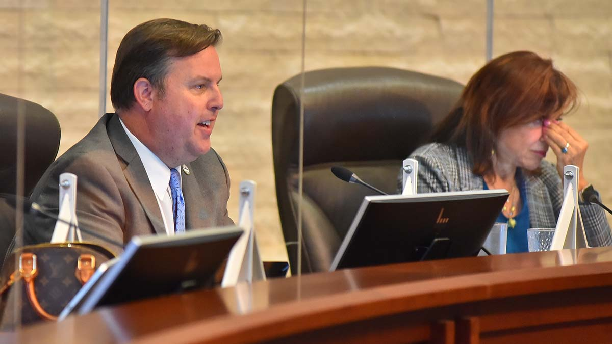 Councilman John McCann said he didn't defend or criticize Columbus.