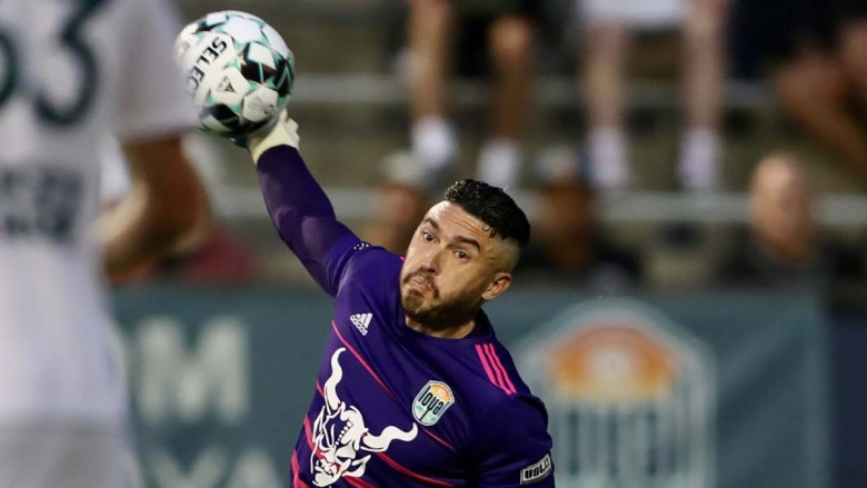 Loyal goalkeeper Austin Guerrero maintained the team's shutout. Photo courtesy of the SD Loyal.