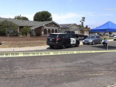 Police at scene of homicide