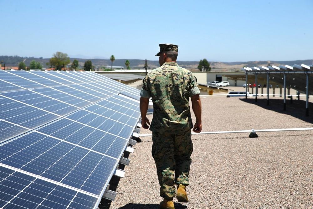 Solar panels at Miramar