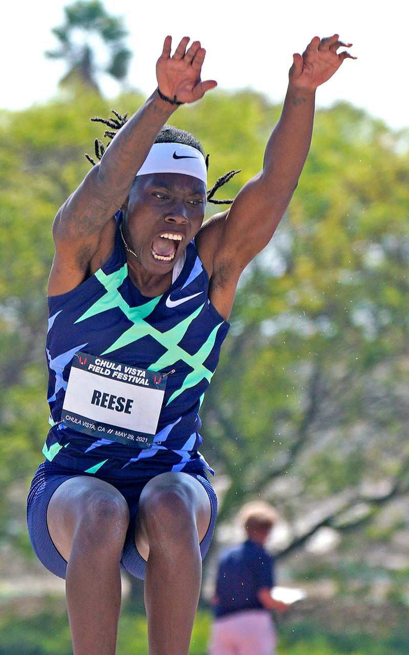 """Brittney Reese said after meet: """"I'm definitely faster on the runway than I expected I would be."""""""