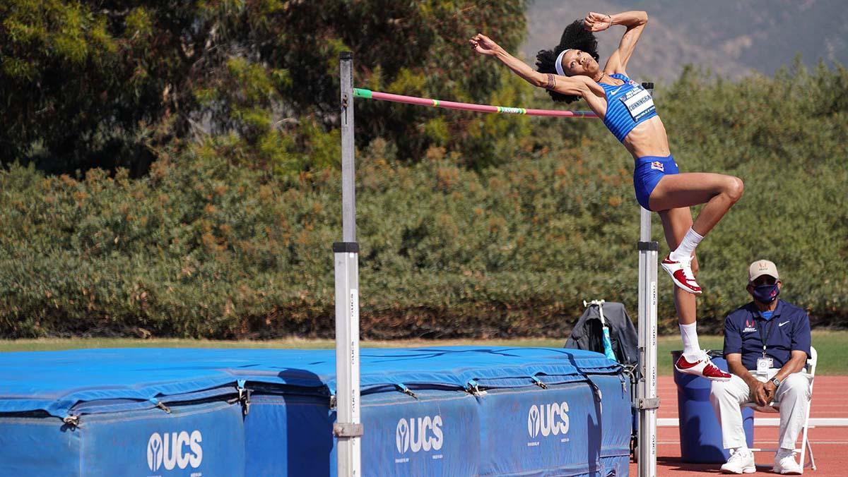 Vashti Cunningham jumps the highest mark in the world this year.
