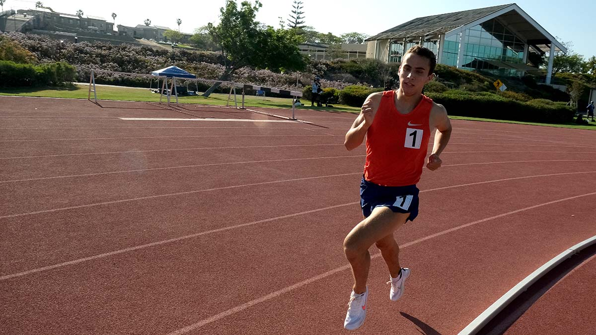 Joel Gomez had a goal of 3:57 Sunday in Chula Vista and was barely off.