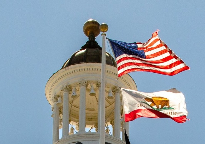Flags over state Capitol