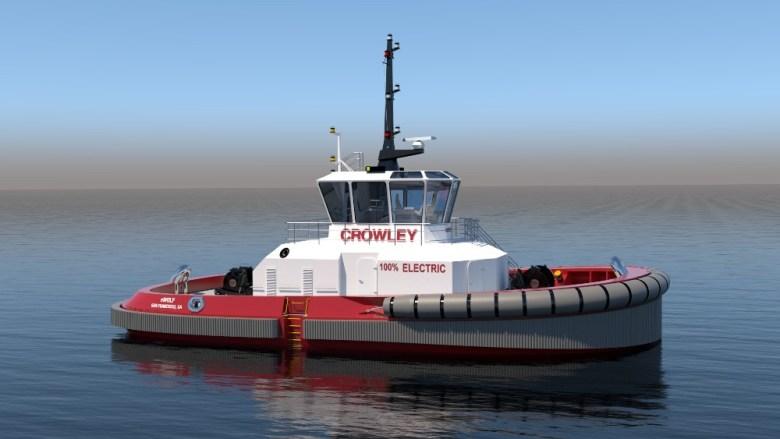 Electric tugboat eWolf