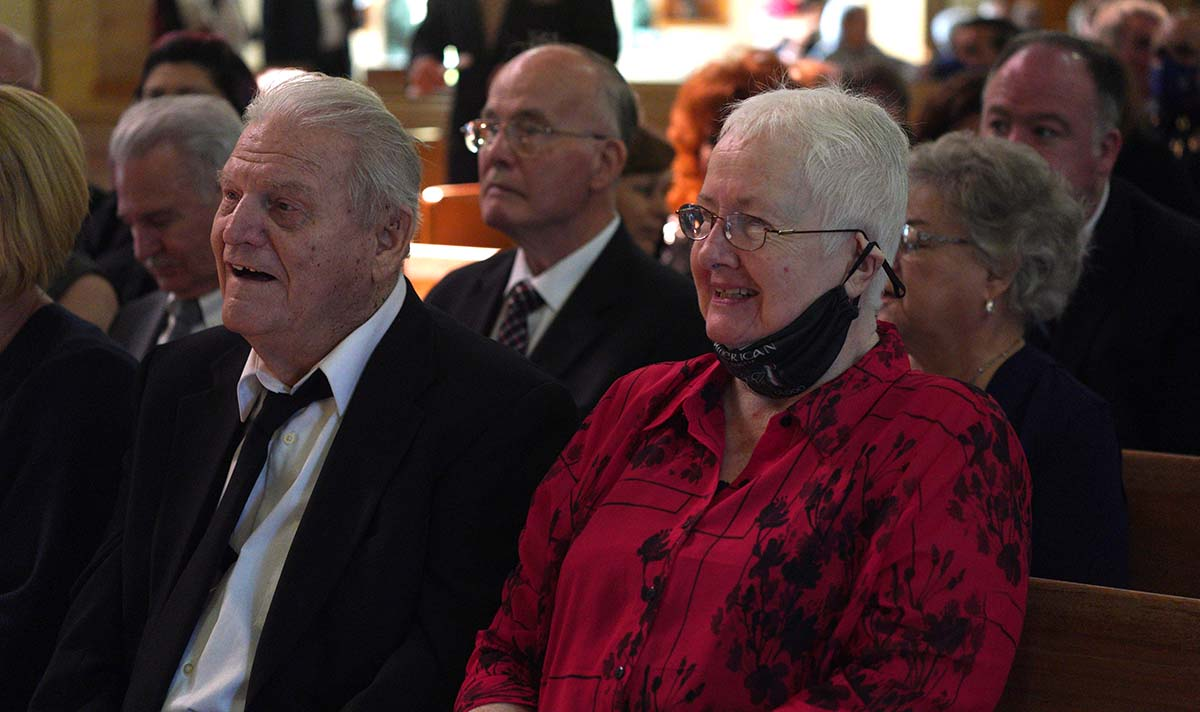 Family members of Fr. Joe Carroll from New York attended the funeral.