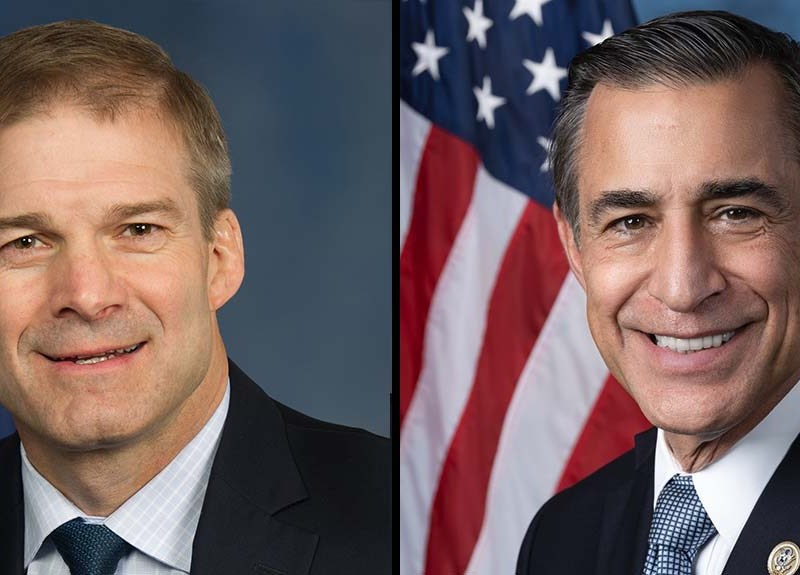 Reps. Jim Jordan (left) and Darrell Issa are Republican ranking members on the House Judiciary Committee.