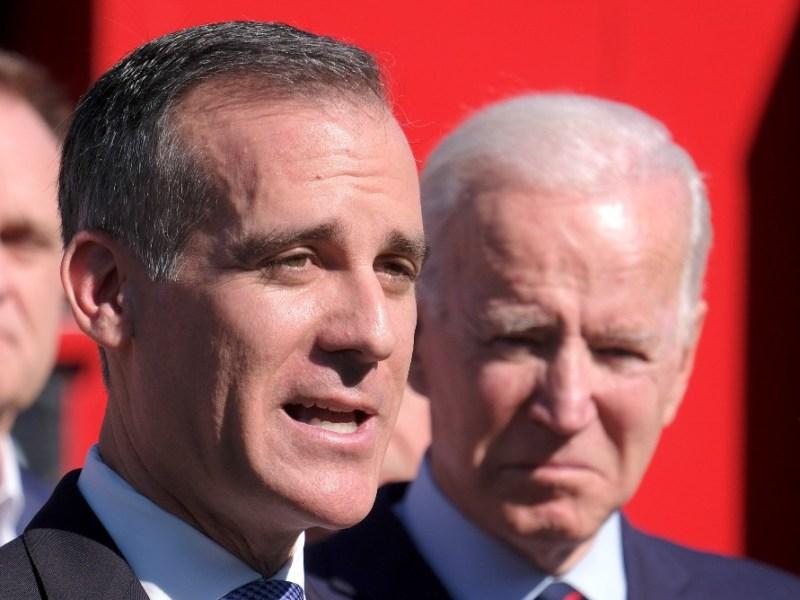 Eric Garcetti with Joe Biden