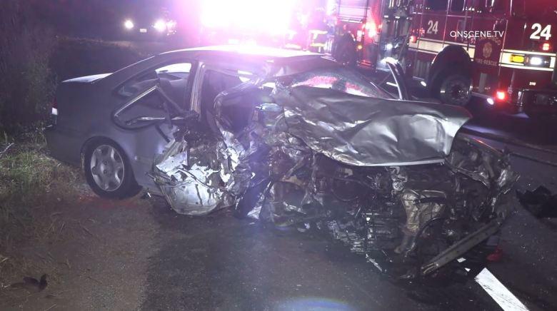 Wreckage of Honda