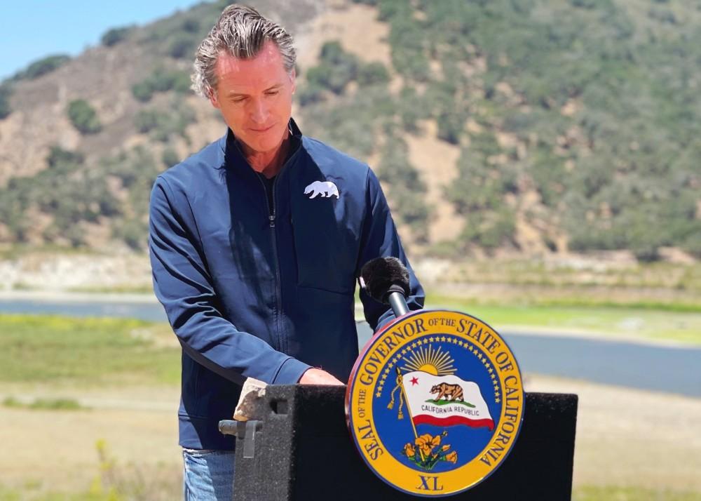 Gov. Gavin Newsom at Lopez Lake