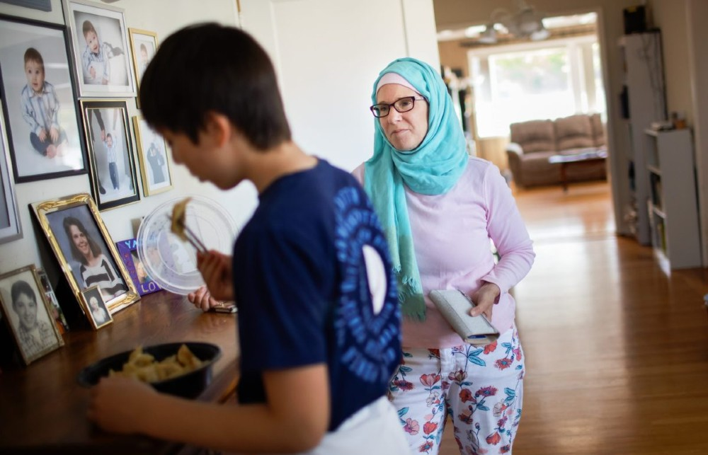 Wendy al-Mukdad with her son