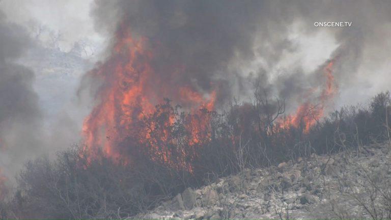Chaparral fire