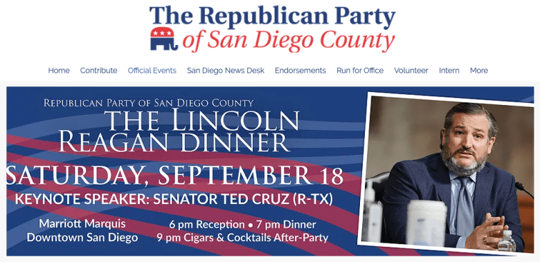 Sen. Ted Cruz of Texas returns to San Diego five years after stumping for president here.