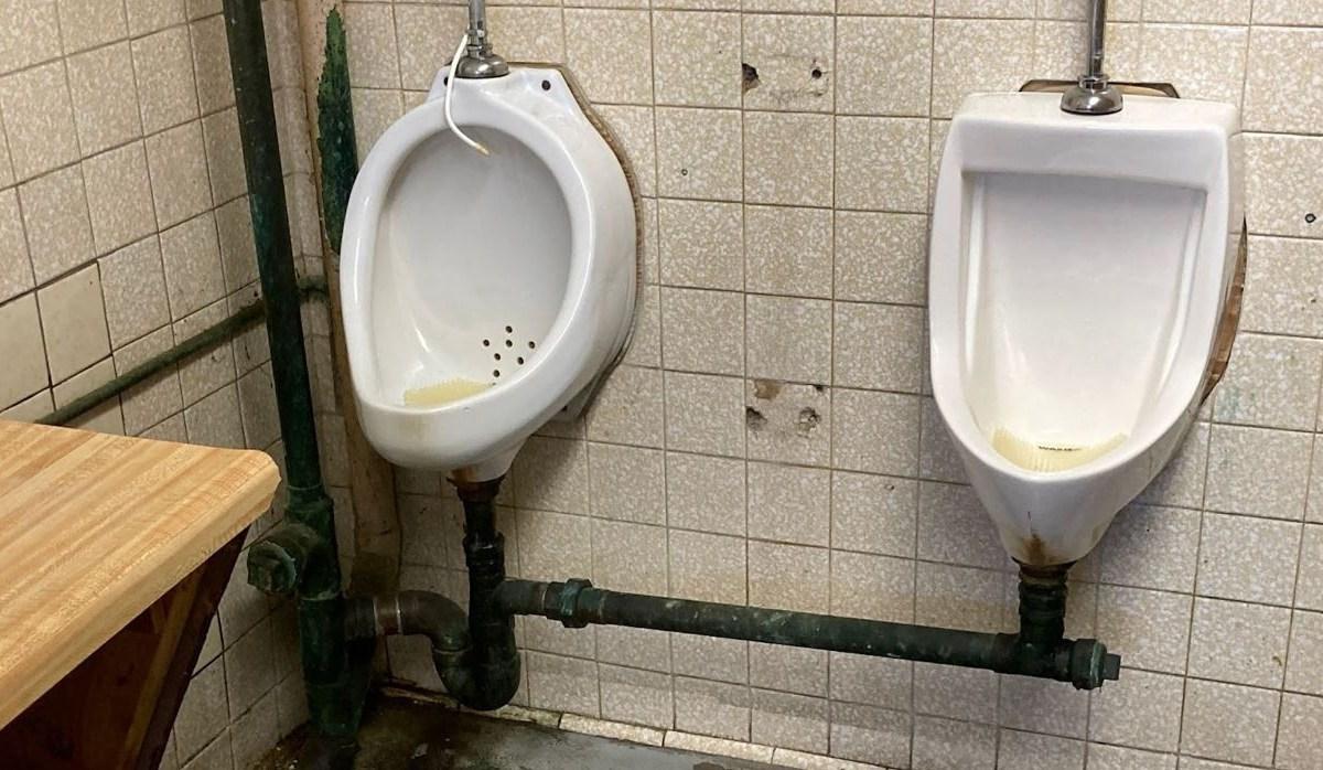 Deteriorating restroom