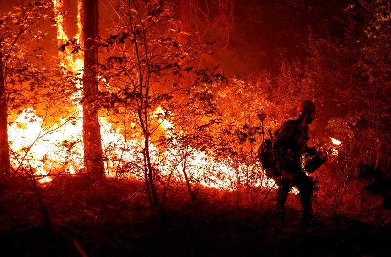 Dixie Fire near Greenville