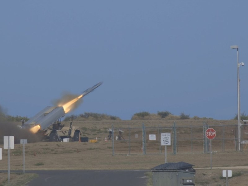 Missile launches from NMESIS