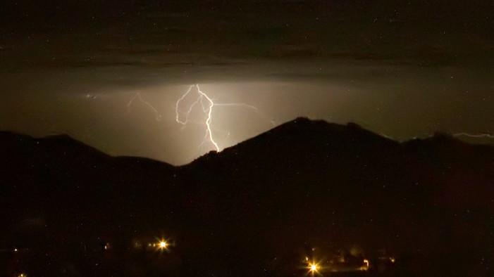 Lightning over San Diego County