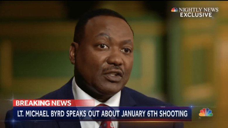Lt, Michael Byrd of the U.S. Capitol police defended his shooting of Ashli Babbitt of San Diego.