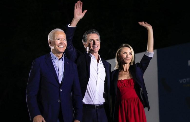 President Biden campaigns with Gov. Newsom