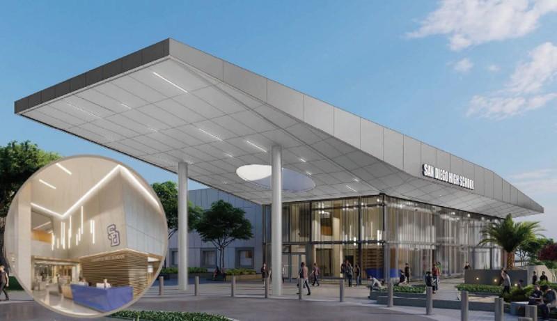 Rendering of San Diego High School modernization
