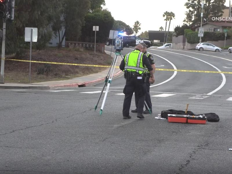 Police at scene of accident