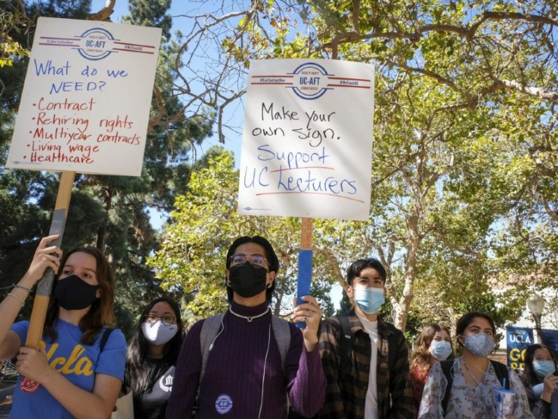 UCLA faculty protest
