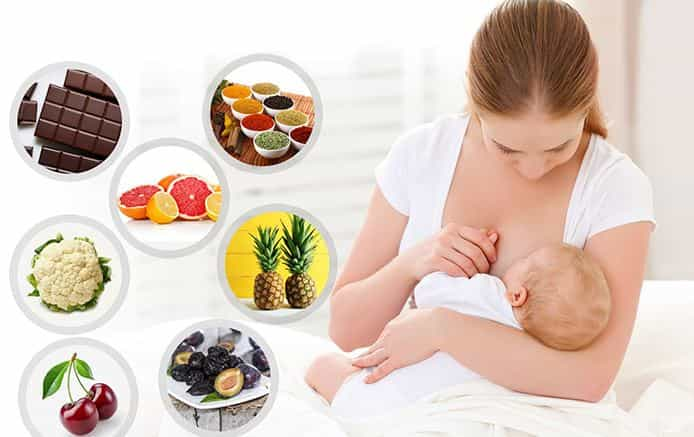 Foods to avoid during breast feeding