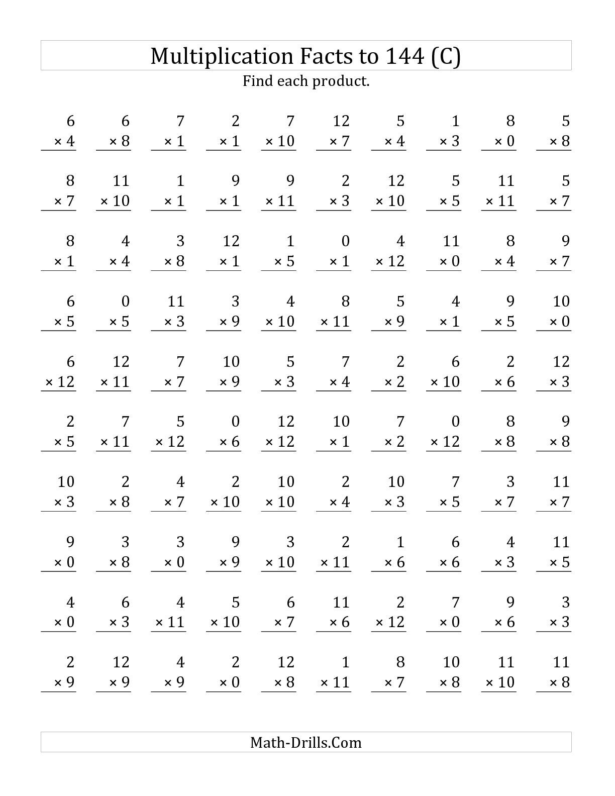 0 3 Multiplication Worksheets