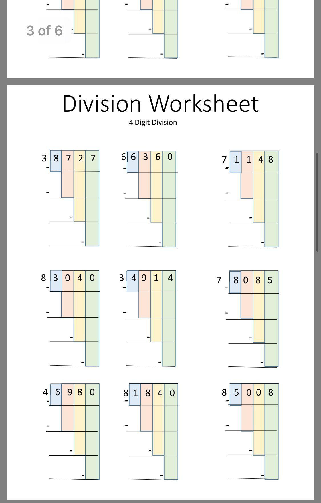 Bar Model Multiplication And Division Worksheet