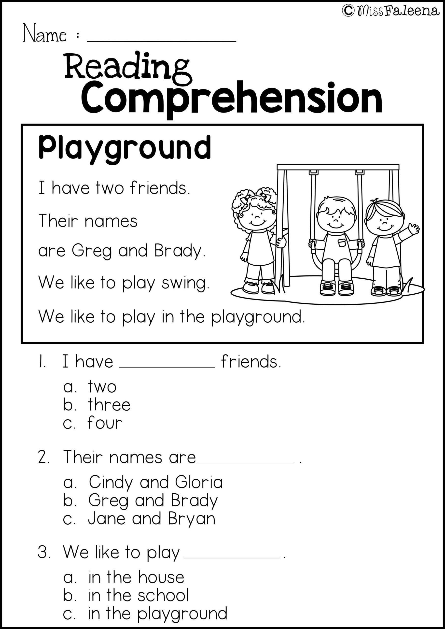 Second Grade 2nd Grade Reading Comprehension Worksheets