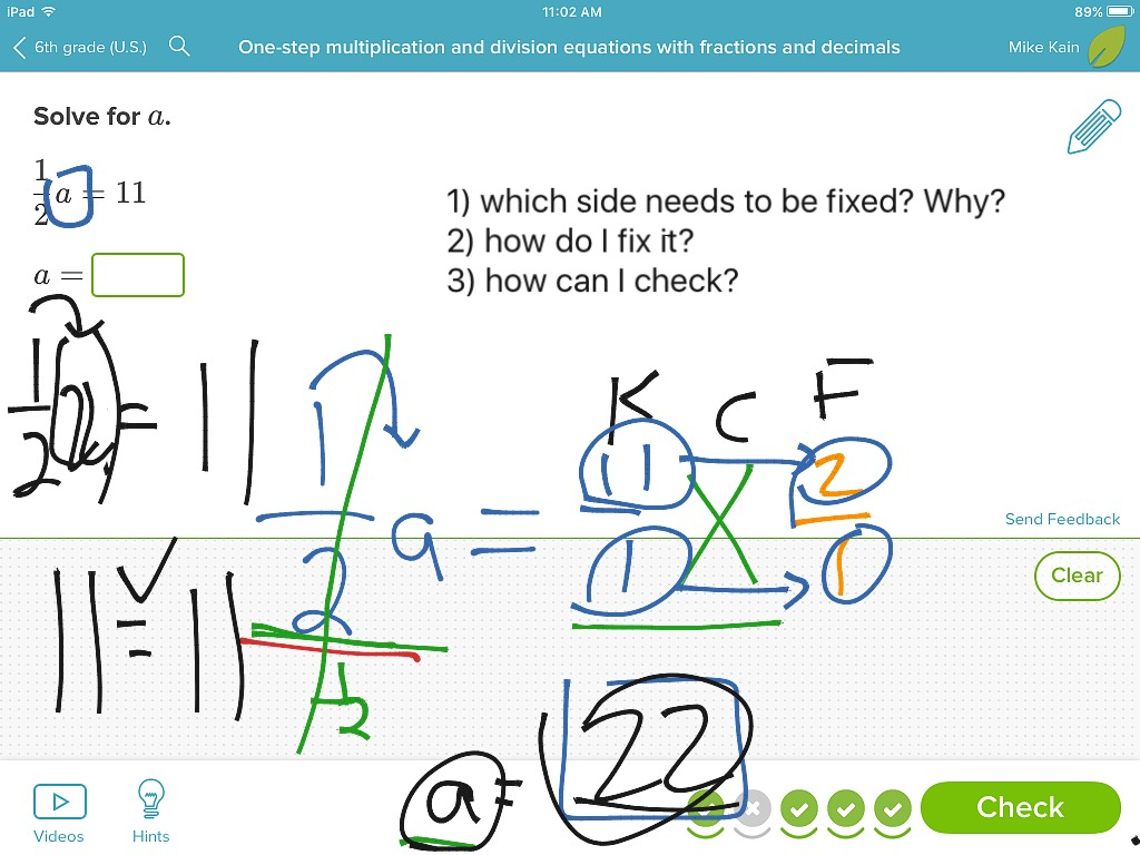 One Step Equations With Multiplication And Division