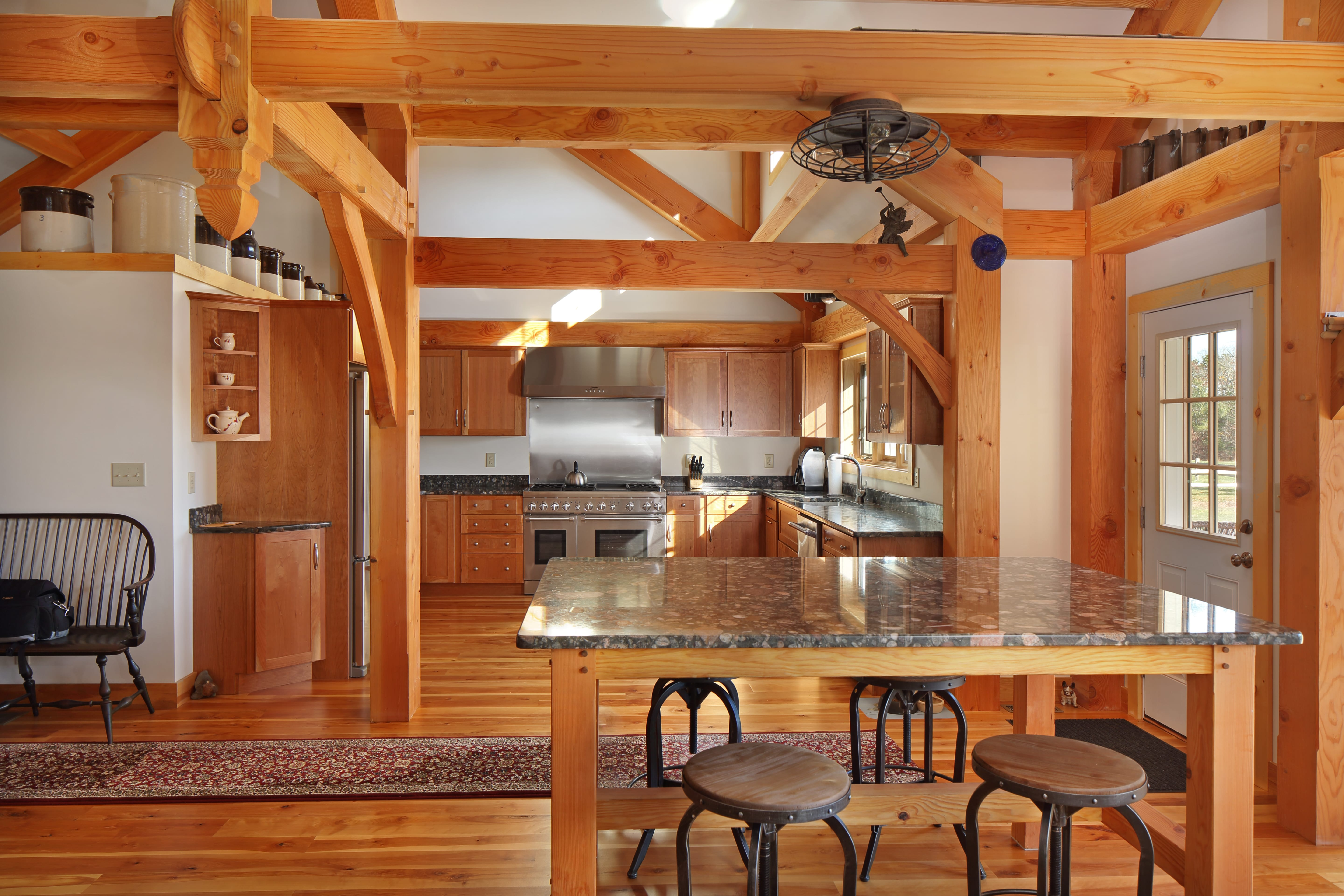 Hardwick Post and Beam Cape Cod kitchen