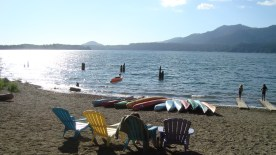 Lake Quinault Lodge - a view from the lodge's private beach. It was such a wonderful spot, and the lodge was amazing.