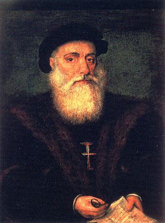Vasco da Gama by Gregorio Lopez, 1524