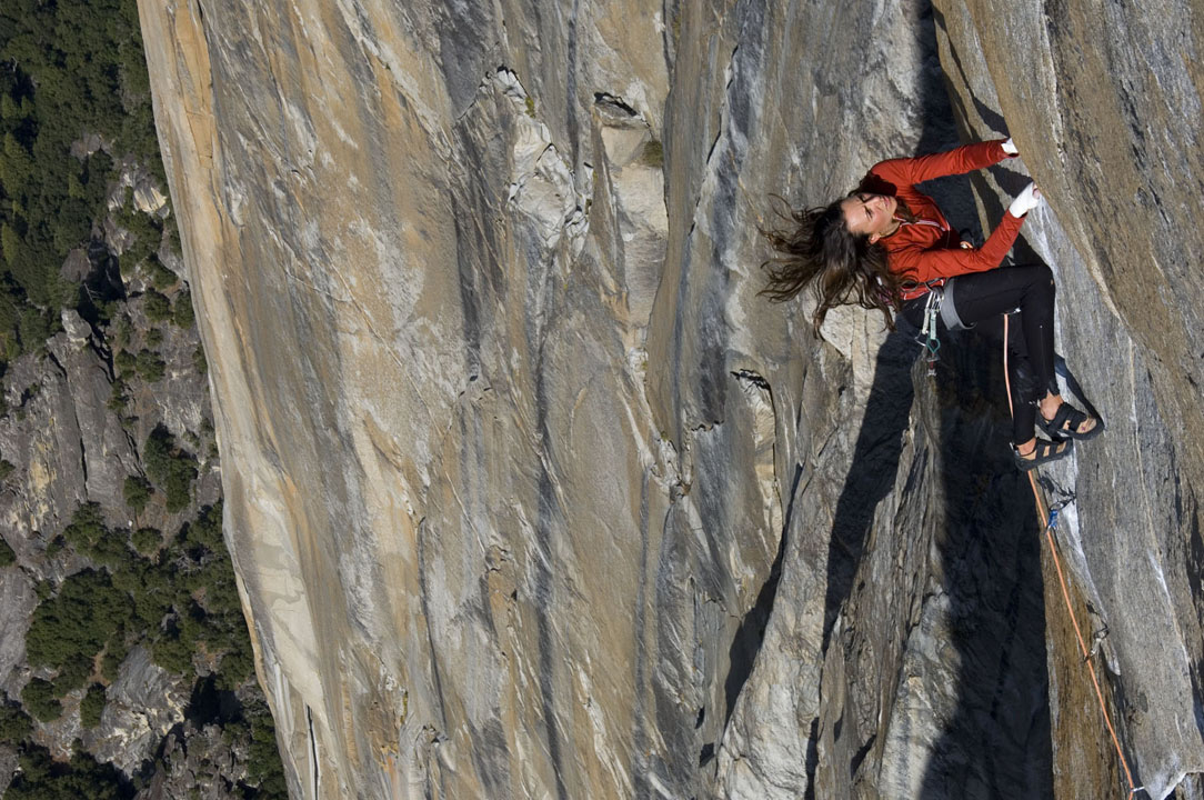 Steph Davis on the Salathe Wall, El Capitan, Yosemite